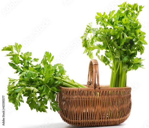 Celery in basket