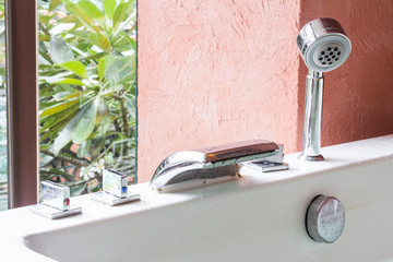 jacuzzi faucet at terrace