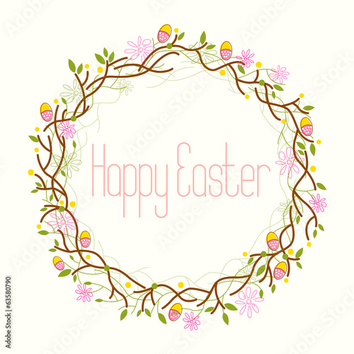 Happy Easter, Easter Wreath