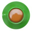 Green cup of coffee