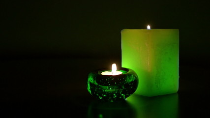 Two green candles