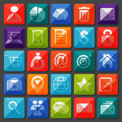 Flat icons collection. Business item