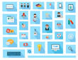 Flat Style UI Icons to use for your business project,