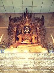 Mahamuni Buddha in Thai Wattanaram Temple,Mae Sod,Tak