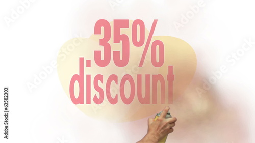 35 Percent Discount Spray Painting