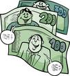 money talks saying cartoon illustration