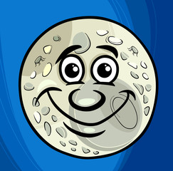 man in the moon saying cartoon