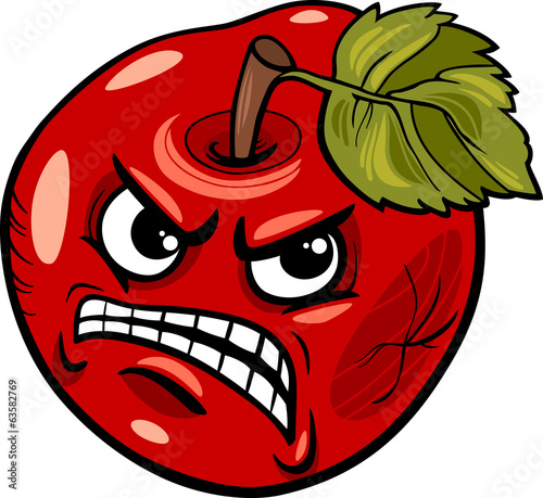 bad apple saying cartoon illustration