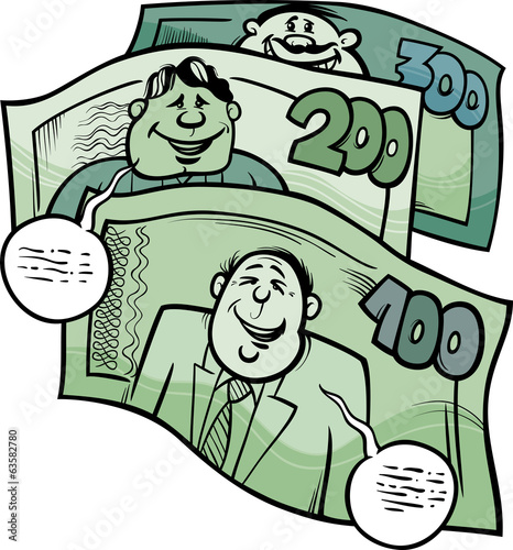 money talks saying cartoon illustration