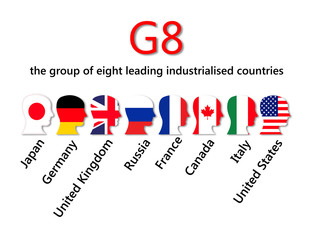 G8, the group of eight leading countries