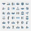 Human resources and management icons set - 63584118