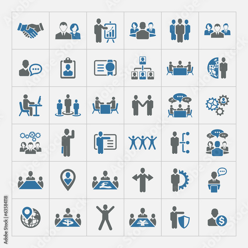 Zestaw ikon zasobów ludzkich i zarządzania