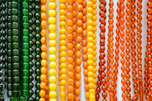 Multicolored prayer beads