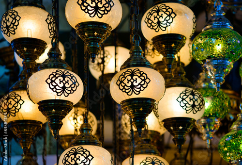 Traditional turkish mosaic lanterns