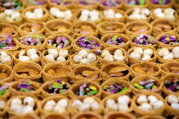 Turkish baklava assortment