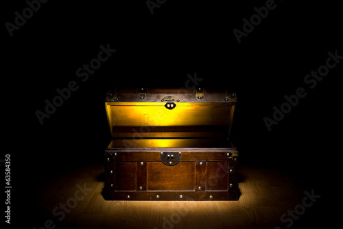 Leinwandbild Motiv Treasure Chest