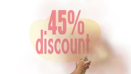 45 Percent Discount Spray Painting