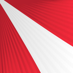 Abstract waving red white red yellow flag