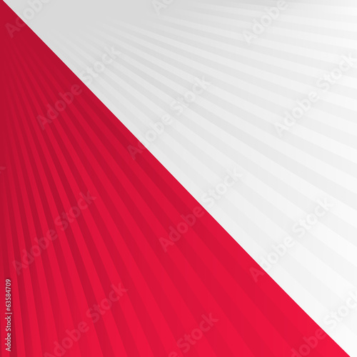 Abstract waving white red yellow flag