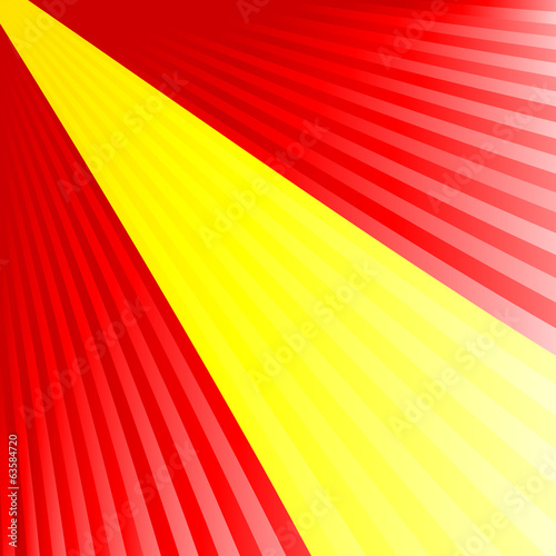 Abstract waving yellow red yellow flag