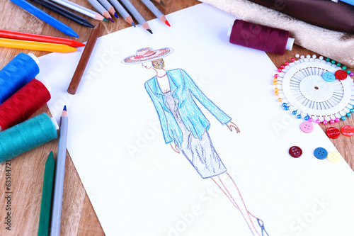 canvas print picture Fashion designer close up