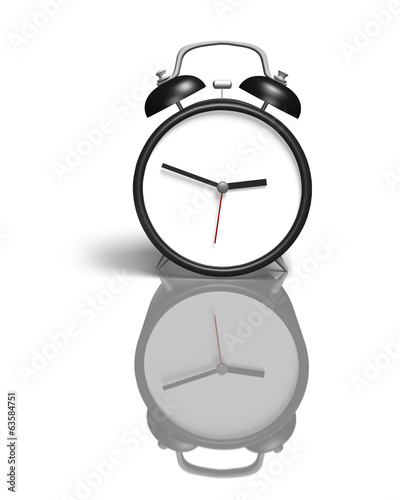 Alarm clock with blank face