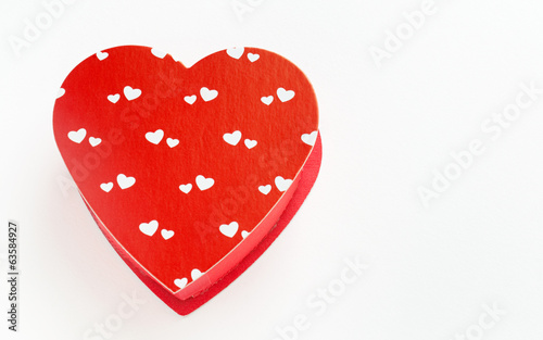 Heart Shaped Red Box