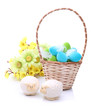 Easter eggs and lambs