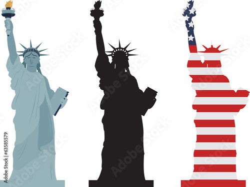 Statue of Liberty, vector - 63585579