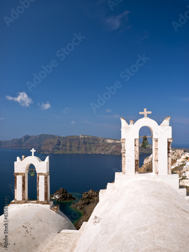 Santorini view with churches