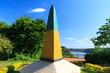 Leinwanddruck Bild - Brazilian Obelisk Triple Frontier, Brazil, Argentina, Paraguay