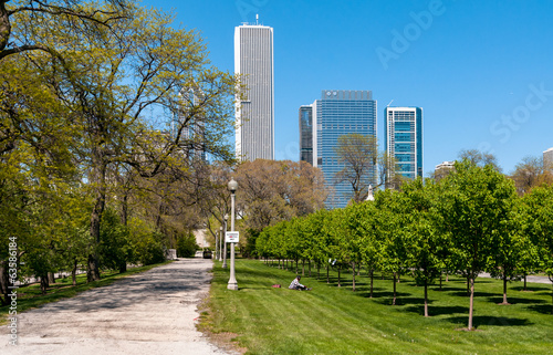canvas print picture Grant Park, Chicago