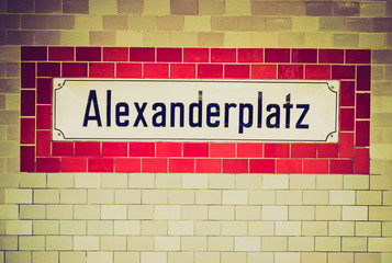 Retro look U-bahn sign