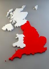 Mappa Regno Unito, divisione regioni, Inghilterra
