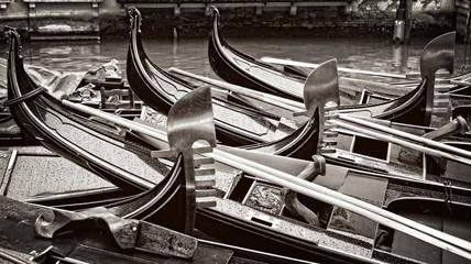 Venice, gondola abstract