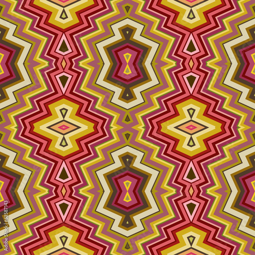 Color Abstract Retro Zigzag Vector Background