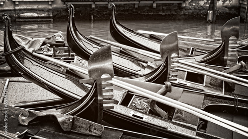 Venice, gondola abstract