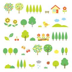 木の素材セット 夏