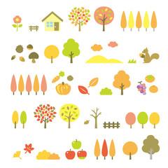 木の素材セット 秋