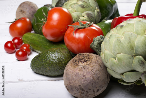 An assortment of mixed vegetables