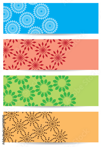 bright color backgrounds with geometric decor - vector