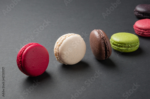 macaroons on table