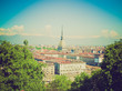 Retro look Turin view