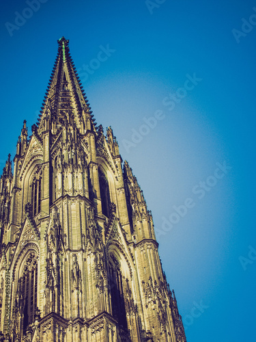 Retro look Koeln Dom