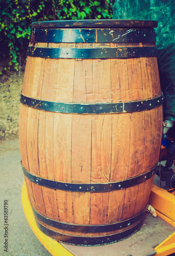 Retro look Barrel cask