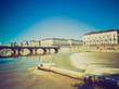 Retro look Piazza Vittorio, Turin