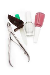 nail polish file and nippers