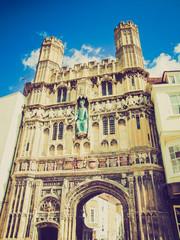Retro look St Augustine Gate in Canterbury