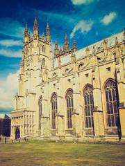 Retro look Canterbury Cathedral