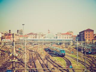 Retro look Porta Nuova station, Turin